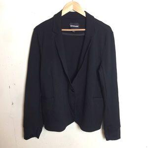 Betabrand One Button Stretch Knit Blazer Jacket 2X